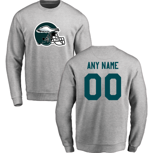 Men's Philadelphia Eagles Nike Gray Stadium Classic Club Fleece Pullover Hoodie