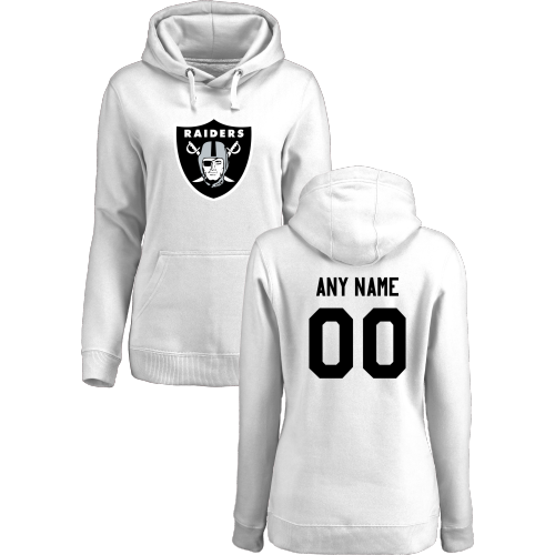 Women's Oakland Raiders Design Your Own Pullover Hoodie