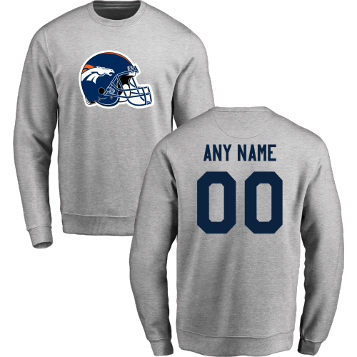 Men's Denver Broncos Design Your Own Crewneck Sweatshirt