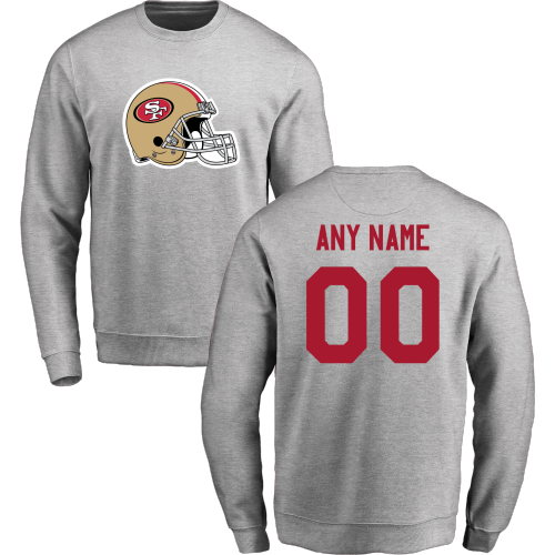 Men's San Francisco 49ers Design Your Own Crewneck Sweatshirt