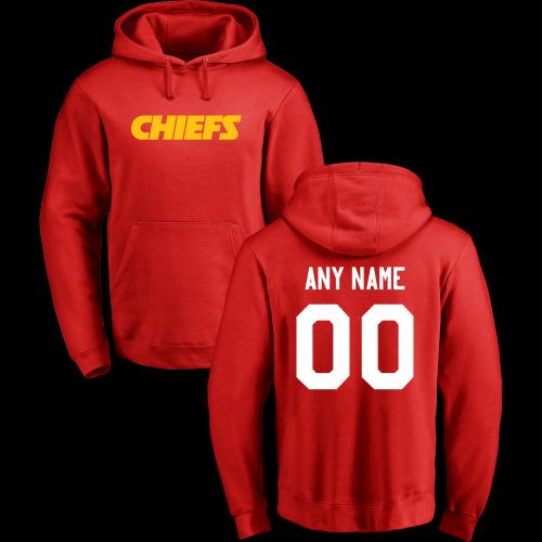Men's Kansas City Chiefs Design Your Own Pullover Hoodie