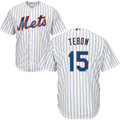 Men's New York Mets Majestic White/Royal Home Cool Base Custom Jersey